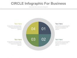 apt Four Staged Circle Infographics For Business Flat Powerpoint Design
