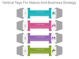 apt Four Staged Vertical Tags For Nature And Business Strategy Flat Powerpoint Design