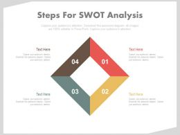 apt Four Steps For Swot Analysis Flat Powerpoint Design
