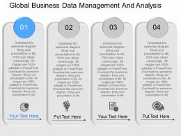 apt Global Business Data Management And Analysis Powerpoint Template