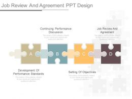 Apt Job Review And Agreement Ppt Design
