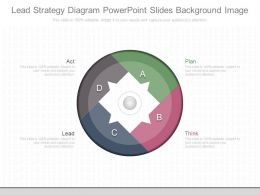 Apt Lead Strategy Diagram Powerpoint Slides Background Image