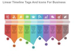 apt Linear Timeline Tags And Icons For Business Data Flat Powerpoint Design