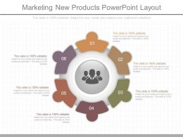 Apt Marketing New Products Powerpoint Layout
