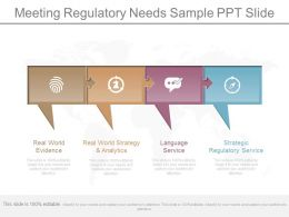 Apt Meeting Regulatory Needs Sample Ppt Slide