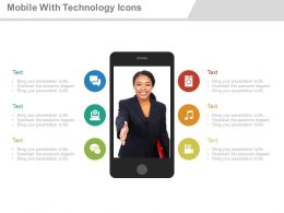 apt Mobile With Icons Technology Application Flat Powerpoint Design