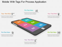 apt Mobile With Tags For Process Application Flat Powerpoint Design