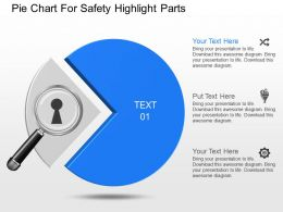 apt Pie Chart For Safety Highlight Parts Powerpoint Template