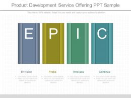 Apt Product Development Service Offering Ppt Sample