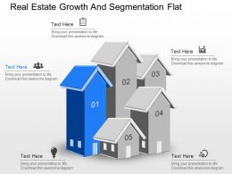 apt Real Estate Growth And Segmentation Flat Powerpoint Template