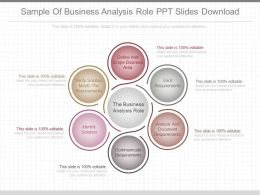 Apt Sample Of Business Analysis Role Ppt Slides Download