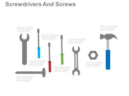 apt Screwdrivers And Hammer And Wrench Tools Flat Powerpoint Design