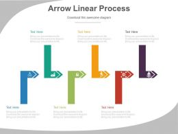 apt Six Staged Arrows Linear Process Diagram Flat Powerpoint Design