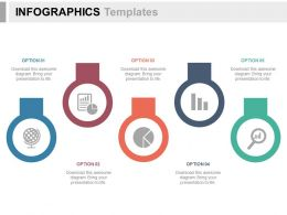 apt Tags With Pie Chart Globe Magnifier And Report Flat Powerpoint Design