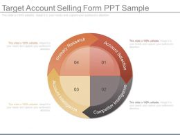 Apt Target Account Selling Form Ppt Sample