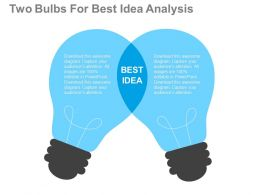 apt_two_bulbs_for_best_idea_analysis_flat_powerpoint_design_Slide01