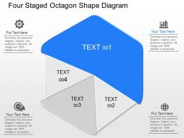 aq Four Staged Octagon Shape Diagram Powerpoint Template