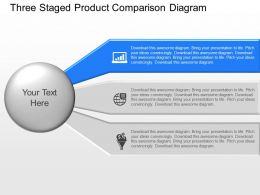 Aq Three Staged Product Comparison Diagram Powerpoint Template Slide