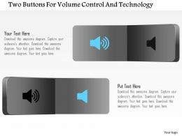 Aq Two Buttons For Volume Control And Technology Powerpoint Template