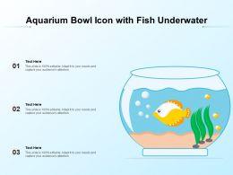 Aquarium Bowl Icon With Fish Underwater