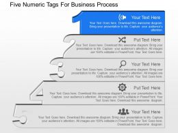 Ar Five Numeric Tags For Business Process Powerpoint Template Slide