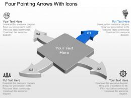 Ar Four Pointing Arrows With Icons Powerpoint Template