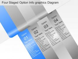 ar Four Staged Option Infographics Diagram Powerpoint Template
