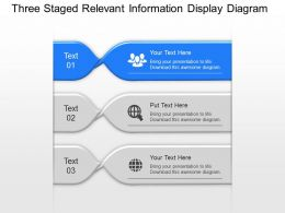 Ar Three Staged Relevant Information Display Diagram Powerpoint Template Slide
