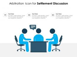 Arbitration Icon For Settlement Discussion