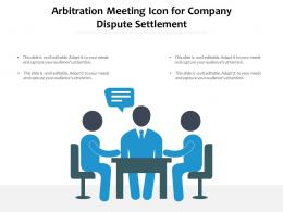 Arbitration Meeting Icon For Company Dispute Settlement