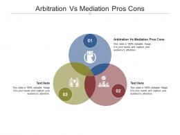 Arbitration Vs Mediation Pros Cons Ppt Powerpoint Presentation Infographics Brochure Cpb