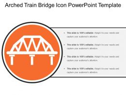 Arched Train Bridge Icon Powerpoint Template