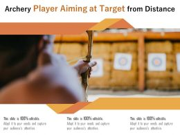 Archery Player Aiming At Target From Distance