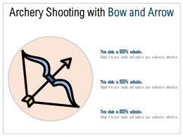 Archery Shooting With Bow And Arrow