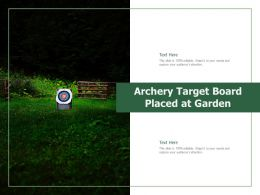 Archery Target Board Placed At Garden