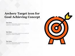 Archery Target Icon For Goal Achieving Concept