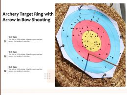 Archery Target Ring With Arrow In Bow Shooting