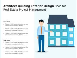 Architect Building Interior Design Style For Real Estate Project Management
