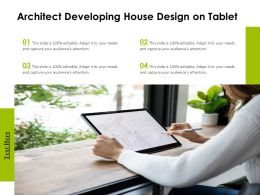 Architect Developing House Design On Tablet