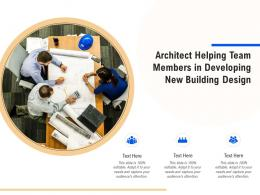 Architect Helping Team Members In Developing New Building Design