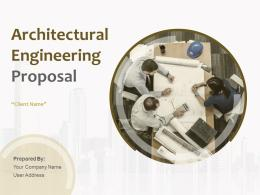 Architectural Engineering Proposal Powerpoint Presentation Slides
