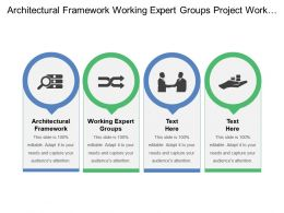 Architectural Framework Working Expert Groups Project Work Team Selection