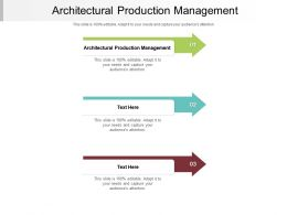 Architectural Production Management Ppt Powerpoint Presentation Styles Professional Cpb