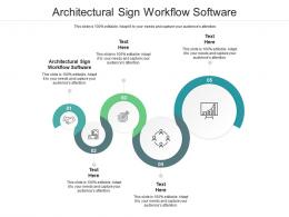 Architectural Sign Workflow Software Ppt Powerpoint Presentation Professional Cpb