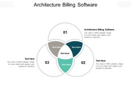 Architecture Billing Software Ppt Powerpoint Presentation Portfolio Background Cpb