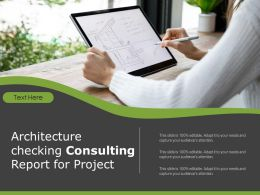 Architecture Checking Consulting Report For Project