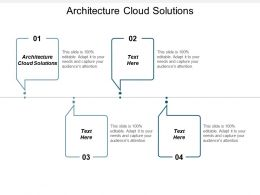 Architecture Cloud Solutions Ppt Powerpoint Presentation Gallery Deck Cpb