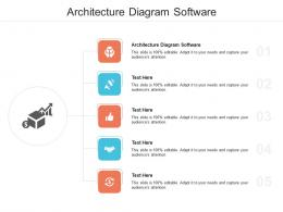 Architecture Diagram Software Ppt Powerpoint Presentation Styles Vector Cpb