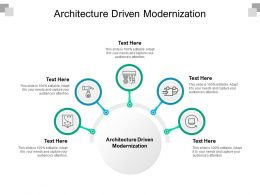Architecture Driven Modernization Ppt Powerpoint Presentation Layouts Cpb