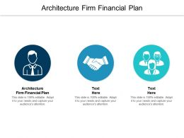 Architecture Firm Financial Plan Ppt Powerpoint Presentation Model Outfit Cpb
